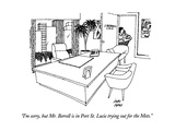 """I'm sorry, but Mr. Berrell is in Port St. Lucie trying out for the Mets."" - New Yorker Cartoon Premium Giclee Print by Joseph Farris"