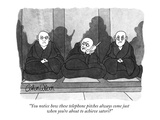 """You notice how these telephone pitches always come just when you're about…"" - New Yorker Cartoon Premium Giclee Print by Gahan Wilson"