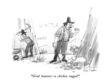 """Good heavens—a chicken nugget!"" - New Yorker Cartoon Premium Giclee Print by Dana Fradon"