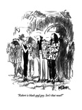 """Robert is black and gay.  Isn't that neat"" - New Yorker Cartoon Premium Giclee Print by Robert Weber"