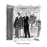 """God is in the details."" - New Yorker Cartoon Premium Giclee Print by Robert Weber"