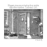 Elegant, mature swinging door seeks opposite member. Louvered O.K. - New Yorker Cartoon Premium Giclee Print by Ann McCarthy
