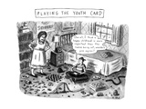 Playing The Youth Card - New Yorker Cartoon Premium Giclee Print by Roz Chast