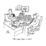 """My trigger finger is itchy."" - New Yorker Cartoon Premium Giclee Print by Joseph Farris"