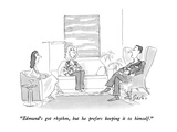 """Edmund's got rhythm, but he prefers keeping it to himself."" - New Yorker Cartoon Premium Giclee Print by Edward Frascino"