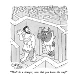 """Don't be a stranger, now that you know the way!"" - New Yorker Cartoon Premium Giclee Print by Gahan Wilson"