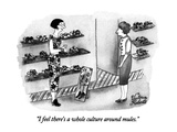 """I feel there's a whole culture around mules."" - New Yorker Cartoon Premium Giclee Print by Victoria Roberts"