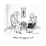 """Where did verve get us"" - New Yorker Cartoon Premium Giclee Print by Victoria Roberts"