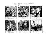 New York Neighborhoods - New Yorker Cartoon Premium Giclee Print by Huguette Martel