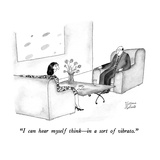 """I can hear myself think—in a sort of vibrato."" - New Yorker Cartoon Premium Giclee Print by Victoria Roberts"