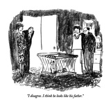 """I disagree.  I think he looks like his father."" - New Yorker Cartoon Premium Giclee Print by Robert Weber"