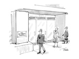 "Businessman walking by building notices sign reading ""THE NOSMOKING BUILDI…"" - New Yorker Cartoon Premium Giclee Print by Dana Fradon"