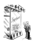 "Couple outside restaurant ""Spido's"" with sign in the window ""Reopening soo… - New Yorker Cartoon Premium Giclee Print by Ed Fisher"