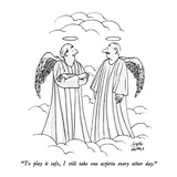 """To play it safe, I still take one aspirin every other day."" - New Yorker Cartoon Premium Giclee Print by Joseph Farris"