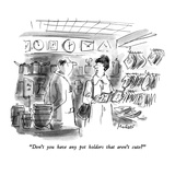 """""""Don't you have any pot holders that aren't cute"""" - New Yorker Cartoon Premium Giclee Print by Frank Modell"""