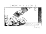 Throw Pillows - New Yorker Cartoon Premium Giclee Print by Ann McCarthy