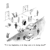 """Is it my imagination, or do things seem to be slowing down"" - New Yorker Cartoon Premium Giclee Print by W.B. Park"