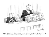 """Mr. Chairman, distinguished guests, Gramm, Rudman, Hollings..."" - New Yorker Cartoon Premium Giclee Print by Dana Fradon"