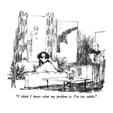 """I think I know what my problem is.  I'm too subtle."" - New Yorker Cartoon Premium Giclee Print by Robert Weber"