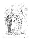 """Your book nauseated me. Did you do that on purpose"" - New Yorker Cartoon Premium Giclee Print by Robert Weber"