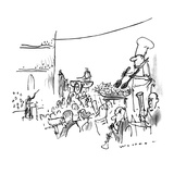In the middle of an orchestra stands a chef tossing salad in a bowl. - New Yorker Cartoon Premium Giclee Print by Bill Woodman