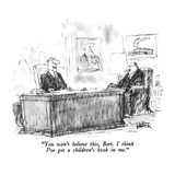 """You won't believe this, Bert.  I think I've got a children's book in me."" - New Yorker Cartoon Premium Giclee Print by Robert Weber"