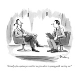 """Actually, Jim, my lawyer won't let me give advice to young people startin…"" - New Yorker Cartoon Premium Giclee Print by Mike Twohy"