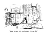 """Quid pro quo isn't good enough for me, Ed!"" - New Yorker Cartoon Premium Giclee Print by Joseph Mirachi"