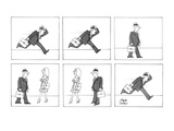 Man running to work because he is late takes time to stop and look at a wo… - New Yorker Cartoon Premium Giclee Print by Joseph Farris