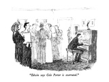"""Edwin says Cole Porter is overrated."" - New Yorker Cartoon Premium Giclee Print by Robert Weber"