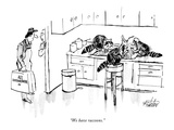 """We have raccoons."" - New Yorker Cartoon Premium Giclee Print by Mischa Richter"