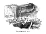 """I'm getting the gist of it."" - New Yorker Cartoon Premium Giclee Print by Charles Saxon"