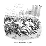 """Who shouted 'Way to go'"" - New Yorker Cartoon Premium Giclee Print by Ed Fisher"