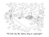 """For God's sake, Miss Andrews, bring me a paperweight."" - New Yorker Cartoon Regular Giclee Print by Dean Vietor"
