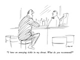 """I have an annoying tickle in my throat.  What do you recommend"" - New Yorker Cartoon Premium Giclee Print by Al Ross"