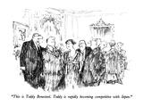 """This is Teddy Bonesteel.  Teddy is rapidly becoming competitive with Japa…"" - New Yorker Cartoon Premium Giclee Print by Robert Weber"