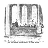 """Mrs. Bonesteel, I've got nine point seventy-eight per cent that says your…"" - New Yorker Cartoon Premium Giclee Print by Robert Weber"