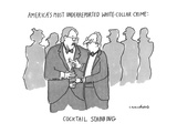 America's Most Underreptorted White-Collar Crime: Cocktail Stabbing - New Yorker Cartoon Premium Giclee Print by Michael Crawford