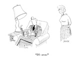 """It's so-so."" - New Yorker Cartoon Regular Giclee Print by Jack Ziegler"