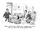 """Please welcome Lance Hartley, this morning's guest, who is with us to dis…"" - New Yorker Cartoon Premium Giclee Print by Dana Fradon"