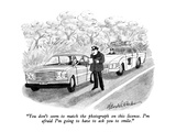"""You don't seem to match the photograph on this license. I'm afraid I'm go…"" - New Yorker Cartoon Premium Giclee Print by J.B. Handelsman"