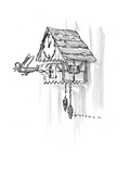 Cuckoo clock strikes the hour: Swiss army knife springs out  instead of a … - New Yorker Cartoon Premium Giclee Print by Bill Woodman