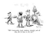 """He's trustworthy, loyal, obedient, cheerful, and all that, but he leans t…"" - New Yorker Cartoon Premium Giclee Print by Eldon Dedini"