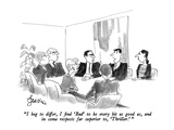 """I beg to differ, I find 'Bad' to be every bit as good as, and in some res…"" - New Yorker Cartoon Premium Giclee Print by Edward Frascino"