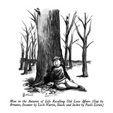 Man in the Autumn of Life Recalling Old Love Affairs - New Yorker Cartoon Premium Giclee Print by Eldon Dedini