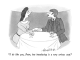 """I do like you, Peter, but interfacing is a very serious step."" - New Yorker Cartoon Premium Giclee Print by J.B. Handelsman"