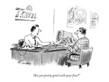"""Are you pretty good with your fists"" - New Yorker Cartoon Regular Giclee Print by Mike Twohy"