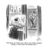 """""""All during the Stalin years, Alexei, your father managed, secretly, to ke…"""" - New Yorker Cartoon Premium Giclee Print by Ed Fisher"""