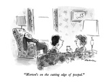 """Morton's on the cutting edge of pooped."" - New Yorker Cartoon Premium Giclee Print by James Stevenson"