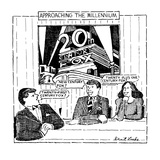 Approaching The Millennium - New Yorker Cartoon Premium Giclee Print by Stuart Leeds
